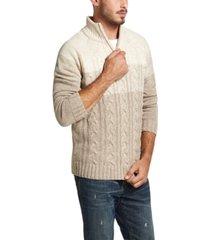 weatherproof vintage men's ombre quarter-zip sweater