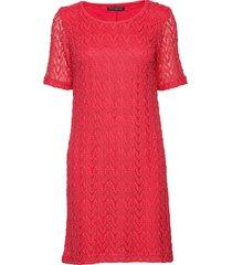 dress short 1/2 sleeve kort klänning röd betty barclay
