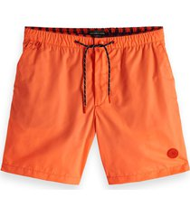 scotch & soda heren zwembroek classic - oranje