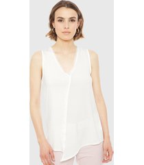 blusa ash blanco - calce regular