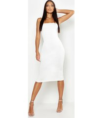 bandeau midi dress, ivory