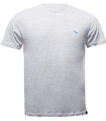 camiseta alma de praia flamê gola redonda