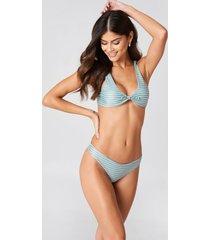 j&k swim x na-kd plain bikini briefs - green,multicolor