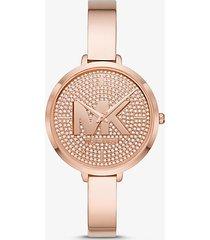 mk orologio charley tonalità oro rosa con pavé - oro rosa (oro rosa) - michael kors