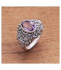 men's amethyst ring, 'beloved barong' (indonesia)