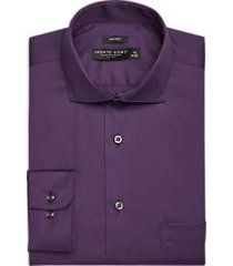 pronto uomo dark purple dress shirt
