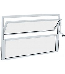 janela basculante quadro fixo inferior alumínio alumifit 40x40x1,35cm branco - 78300043 - sasazaki - sasazaki