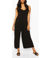 maternity slouchy strappy jumpsuit, black