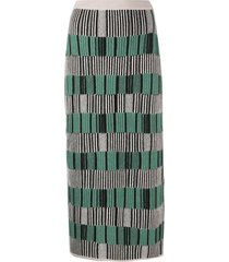 christian wijnants stripe pencil knit skirt - green