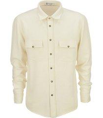 brunello cucinelli leisure fit shirt