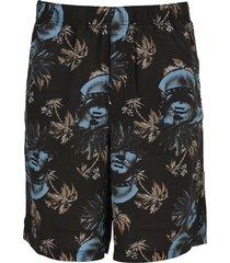 undercover jun takahashi undercover rose-print bermuda shorts