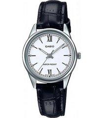 reloj casio ltp-v005l-7b2 negro cuero
