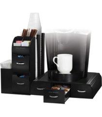 mind reader 2-piece k-cup single serve coffee pod drawer and condiment storage organizer station