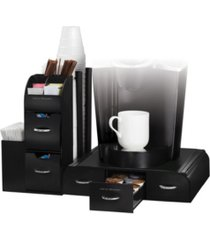 mind reader 2-piece k-cup single serve coffee pod drawer and condiment storage organizer station