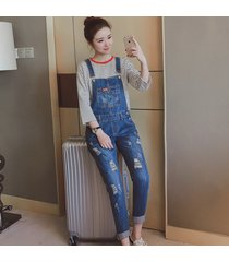 maternity trousers pregnant denim overalls belly pants adjustable jumpsuits