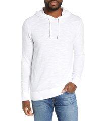 men's faherty slub cotton hoodie, size large - white