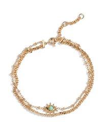 ajoa evil eye layered bracelet in gold at nordstrom
