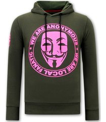 sweater local fanatic hoodie print we are anonymous
