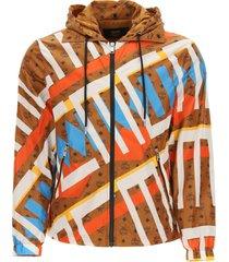 mcm geo graffiti nylon jacket