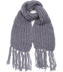 bufanda gris boerss lana con flecos