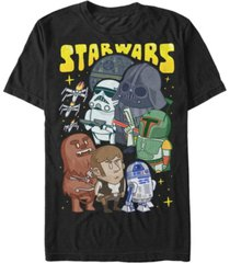 star wars men's classic cute good guys vs. bad guys short sleeve t-shirt