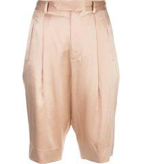 fleur du mal slim-fit bermuda shorts - neutrals