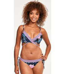 moonflower wrap front booster bikini top