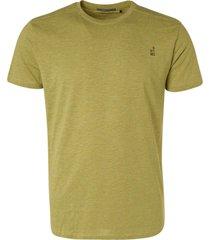 no excess t-shirt crewneck 2 coloured melange green