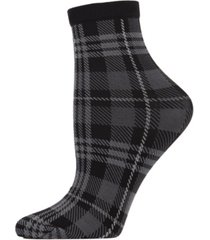 perfect plaid women's anklet socks