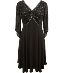 j kara embellished chiffon dress