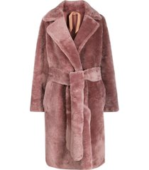 nº21 belted midi coat - pink