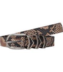 cinturón cuero mujer snake café zappa