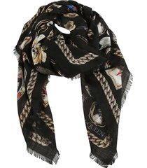 alexander mcqueen cameo and curiosities scarf