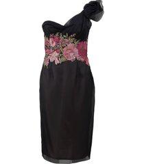 hand-draped cocktail dress