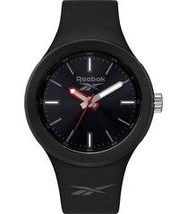 reloj  warm up negro reebok