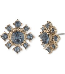 marchesa gold-tone stone cluster stud earrings