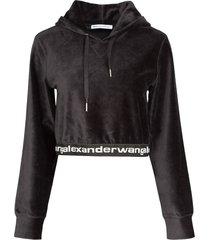 alexander wang corduroy hoodie