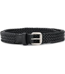 bottega veneta braided belt - black