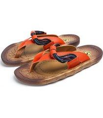 zapatillas sandalias hombre - naranja