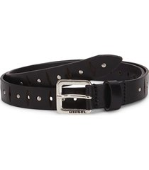 diesel men's b-thin rivet leather belt - black - size 105 (42)