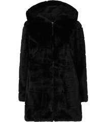 fuskpäls onlchris fur hooded coat