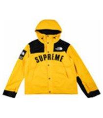 supreme parka x the north face arc logo mountain - amarelo