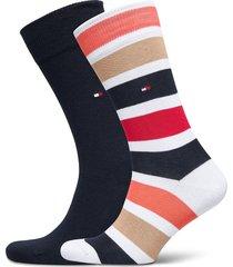 th men sock 2p colorblock stripe underwear socks regular socks blå tommy hilfiger