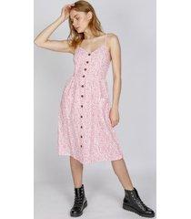 vestido amanda estampado rosa eclipse