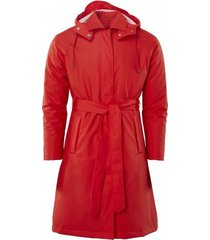 rains regenjas w trench coat red