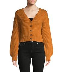 wool & cashmere short cardigan sweater