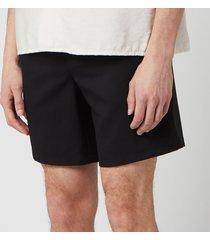ami men's elasticized waist bermuda shorts - noir - s