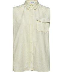stp police pkt shirt ns blouse mouwloos geel calvin klein