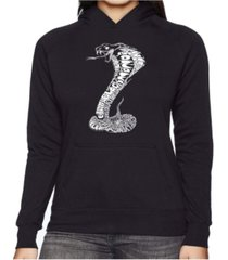 la pop art women's word art hooded sweatshirt -tyles of snakes