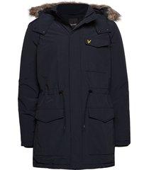winter weight microfleece jacket parka jas blauw lyle & scott